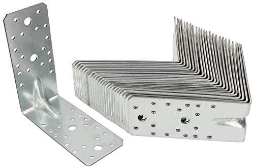 KOTARBAU® Winkelverbinder 25 Stk. 150x150x65 Bauwinkel mit Sicke Silber