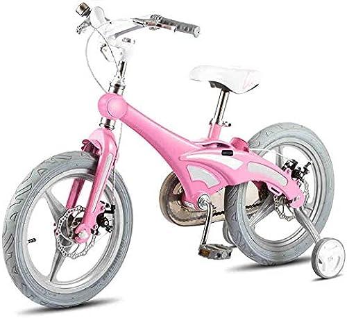 Kinderwagen Kinder fürrad Jungen fürrad mädchen fürrad Kinderwagen 12 14 16 Zoll fürrad Mountainbike fürrad fürrad 2-8 Jahre alt Für Neugeborene (Farbe   Rosa, Größe   14 inch)-Rosa,14 inch