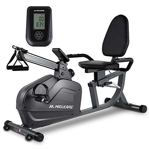 Maxkare Recumbent Exercise Bike Magnetic Indoor Stationary...