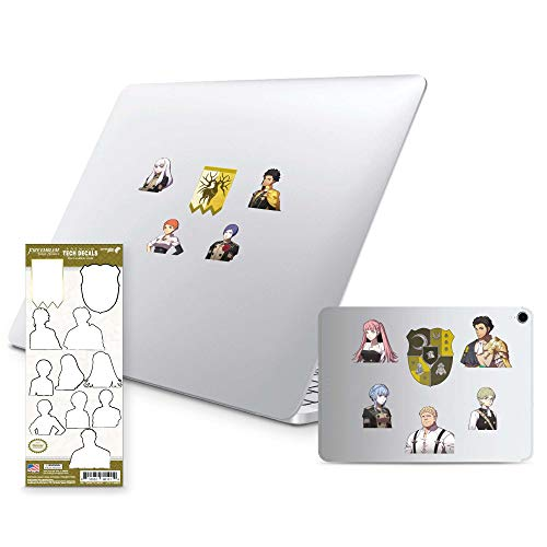 Fire Emblem Three Houses, 11 Pack, Golden Deer Tech Decals, Waterproof Stickers for Phone, Laptop, Water Bottle, Skateboard, Vinyl Stickers for Boys and Girls