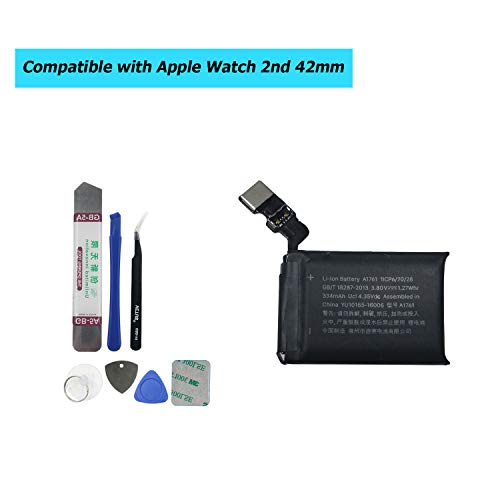 Upplus A1761 Ersatz Akku Kompatibel Für Apple Watch Series 2 2st 42mm A1758 Gen 334mAh 3,8V with Toolkit
