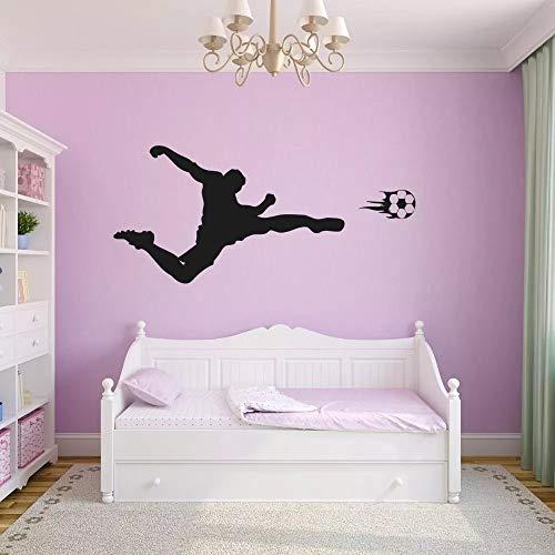 WERWN Juego de fútbol para Hombres Arte de la Pared fútbol Deportes Pegatinas para el hogar y con Fotos
