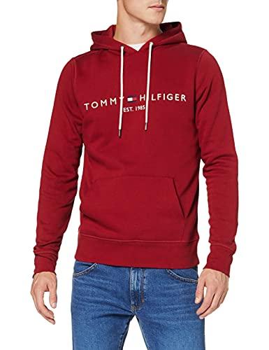 Tommy Hilfiger Tommy Logo Hoody Sudadera con Capucha, Rojo (Regatta Red), XXL para Hombre