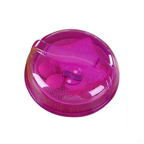 jianchangsheng Mikrowellen-Auflaufform, spritzwassergeschützt, staubdicht, mit Deckel, beheizt, öldicht, staubdicht, spritzwassergeschützt, Mehrzweck-Schüsselabdeckung Einheitsgröße violett