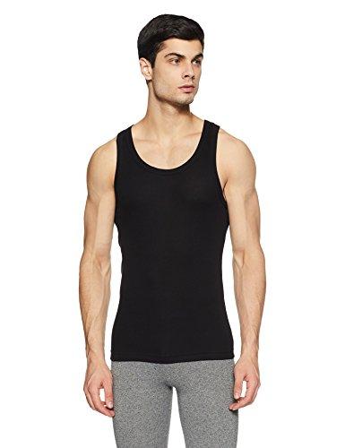 Macroman M Series Men's Cotton Vest (8903978238296_M111_Black_M)