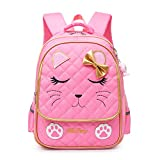 Hyundly Cat Face Waterproof School Backpack for Girls Book...