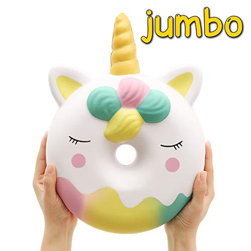 Anboor 13.8 'Squishies Riesen Jumbo Einhorn Donut Kawaii Langsam steigende cremige duftende...
