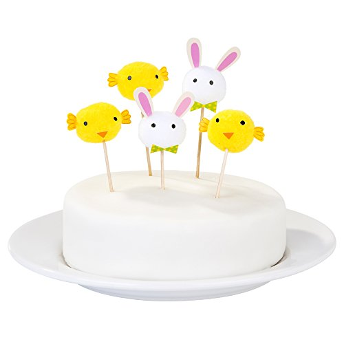 Ostern Brunch Piker PomPom Cupcake Muffin Deko Küken Hase Osterbrunch