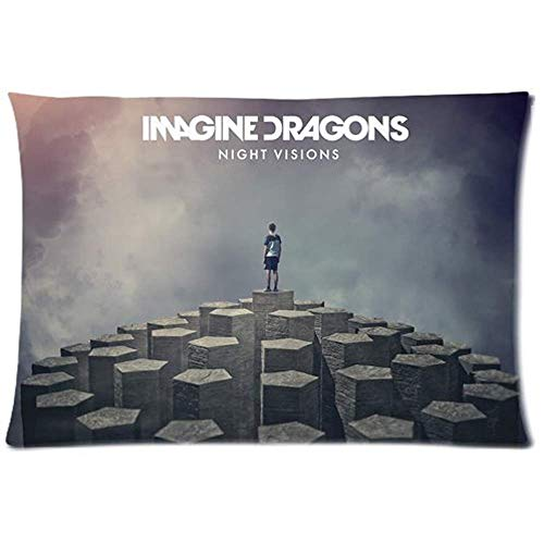 SARA VAQUERO Imagine Dragons Night Visions Two Sides Custom Cotton & Polyester Pillow Case Cover Cushion Cover-0396