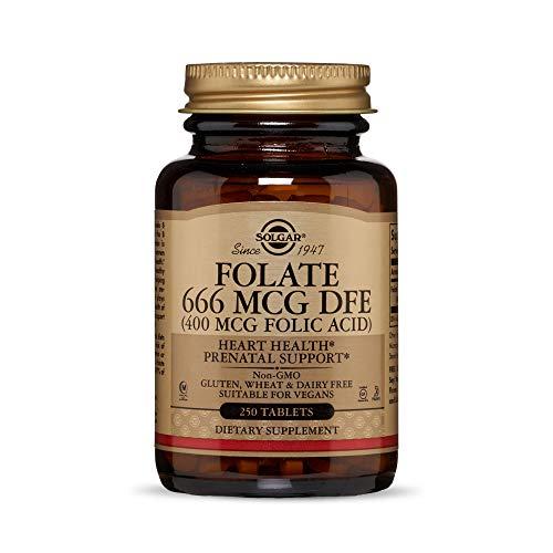 Solgar, Folacin (Folic Acid) 400 ug Tablettes, 250