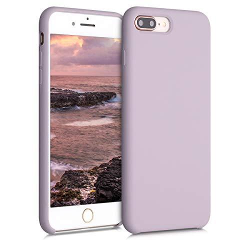 kwmobile Funda Compatible con Apple iPhone 7 Plus / 8 Plus - Funda Carcasa de TPU para móvil - Cover Trasero en Lavanda Suave