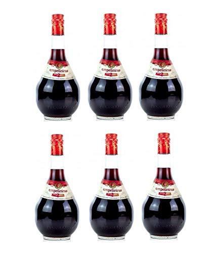 6x Ampelicious Imiglykos Rot lieblich je 500ml 11% griechischer Wein in kleinen Flaschen Rotwein Imiglikos halbsüß + Probiersachet 10ml Olivenöl