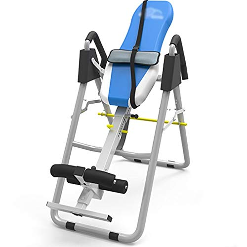 LQQ Adjustable Height Inversion Table Gravity Inversion Equipment Without Shoulder Rest Foldable Back Stretcher Machine Home Gym Therapy Trainer Chair