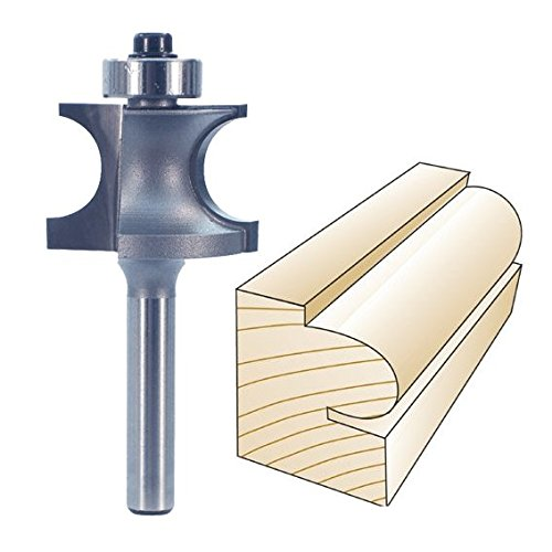 Whiteside Router Bits 3256 Edge Beading Bit with 1-1/16-Inch Large Diameter and 3/4-Inch Cutting Length