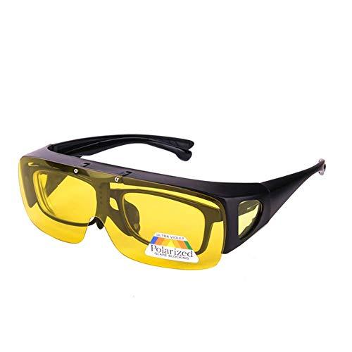 Überzieh Nachtsichtbrille für Autofahrer, für Brillenträger, HD Blendschutz polarisierende Gläser für Herren und Damen