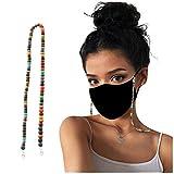 N / A Máscara Cordón Cuentas de Vidrio con Cuentas Cadenas para Gafas Colgador de Soporte de mascarilla Cómodo Alrededor del Cuello