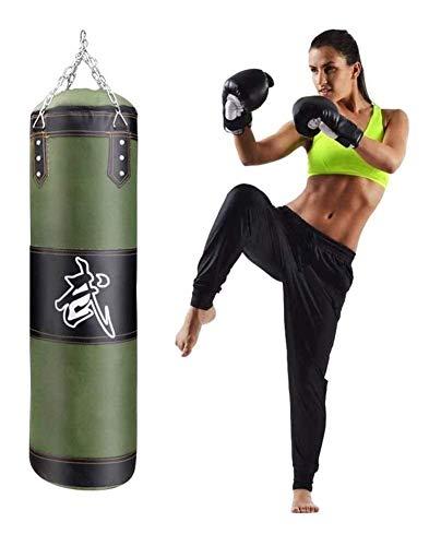 XHLLX Bolsas De Perforación De Boxeo Bolsa De Perforación Boxeo Colgante Sin Llenar Boxeo Pesado Kicking Boxeo Pesado Entrenamiento Punts Mits Cadena Colgante Muay Tailandesa Artes Marciales
