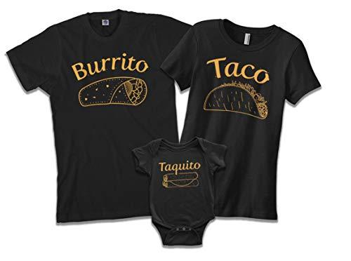 Burrito Taco Matching Family Shirt Set