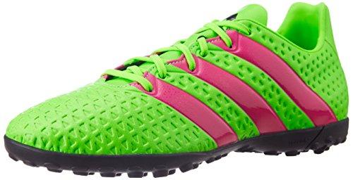 adidas Ace 16.4 TF, Unisex-Kinder Fußballschuhe, Grün (Solar Green/Shock Pink/Core Black), 38 2/3 EU (5.5 Kinder UK)