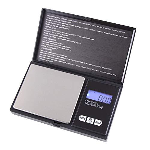 Harilla Portátil 50g X 0.01g Balanza Digital Joyería Balance De Bolsillo Peso Gramo LCD