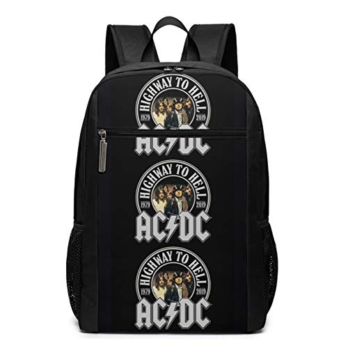 AC-DC Angus McKinnon Young Power Up Pop Band - Bolsa escolar ligera 2021.0 para adolescentes, niños, niñas, estudiantes, negocios, deportes, estudio