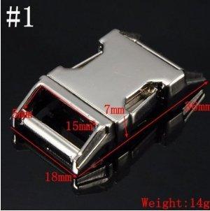 Tutoy metalen zijdelingse sluiting voor paracord armband zink legering verschillende grootte