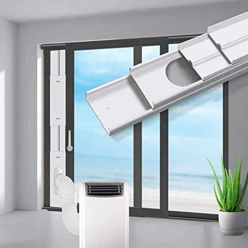 Aozzy Universelle Türabdichtung Fensterabdichtung für mobile Klimageräte und Ablufttrockner, Hot Air Stop Fenster und Türdichtungssatz von mobilen Klimaanlagen mit 130mm Ø