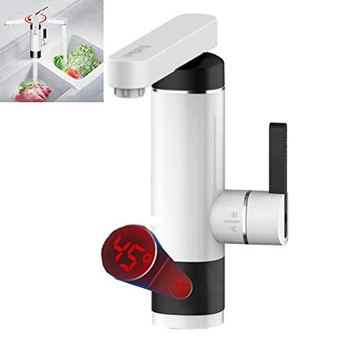 Elektrischer Wasserhahn Durchlauferhitzer 360° Schwenkbare Heiß- Und Kalt-Elektroheizung Warmwasserbereiter Mit Personenschutz Für Küche, Badezimmer, Waschraum