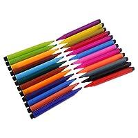 1セット多色塗装ペン水彩ブラシ着色ペン描画供給学校オフィス文具 - 24色