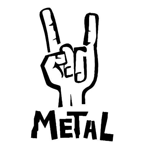 BLOUR 7.6CM * 12.1CM Heavy Metal Aufkleber Vinyl Aufkleber E-Bass Gitarre RockPersönlichkeit Auto Aufkleber Zubehör Schwarz/Splitter C8-0473