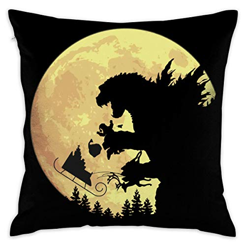 8888CASE Godzilla NOH! NOH! NOH! Decorative Throw Pillow Covers Case Pillowcases Kissenbezüge (40cmx40cm)