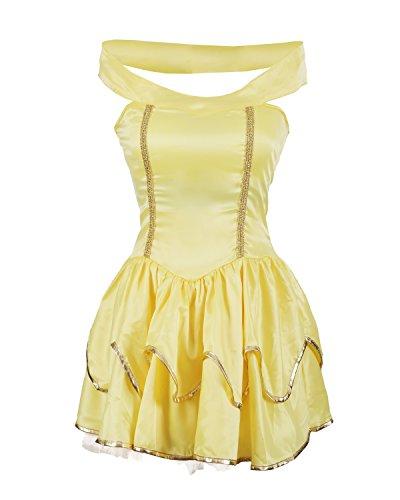 Emmas Wardrobe princesa Disfraz incluye el vestido sin tirantes amarillo con Tutu enagua adjunta - Traje princesa impresionante para Halloween, fiesta de gallina o temáticas Evento - Reino Unido Tamaños 6-16