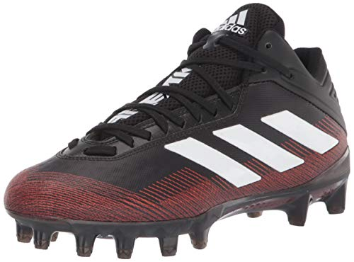 adidas Men's GNE66 Football Shoe, Black/White/Team Orange, 9.5
