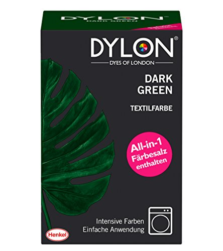 DYLON Textilfarbe, Dark Green, 1er Pack (1 x 1 Stück)