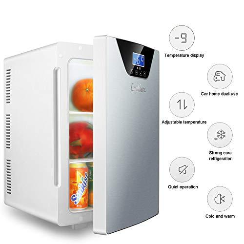 LHY Getränkekühler - Minibar, DREI-Kern-Kühl- Und Heizsystem Kühlschrank, -9-65°C, Nur 30 Db, 20 L, Umweltfreundlich [Energieklasse A+],Silber