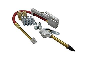 Milton  MK506-2  Inflator Gauge Blow Gun and M-Style KWIK-CHANGE Air Coupler & Plug Kit  14-Piece