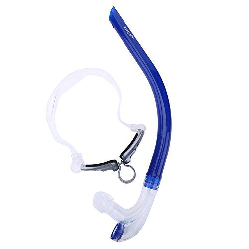 Alomejor Tubo de respiración, equipamiento de natación delantero con tubo de silicona para buceo submarino, accesorios de buceo, azul
