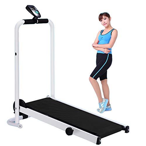 Pantalla LED Ligero Durable Plegable Cinta de Correr Manual Máquina de Trabajo Cardio Fitness Ejercicio Inclinación Hogar Ahorre Espacio