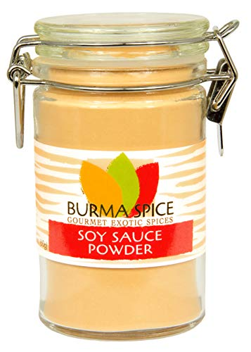 Soy Sauce Powder | Authentic Umami Flavor | Kosher Certified | Excellent on Snacks, Poultry, Marinades and Dry Rub Blends (2.1 oz)