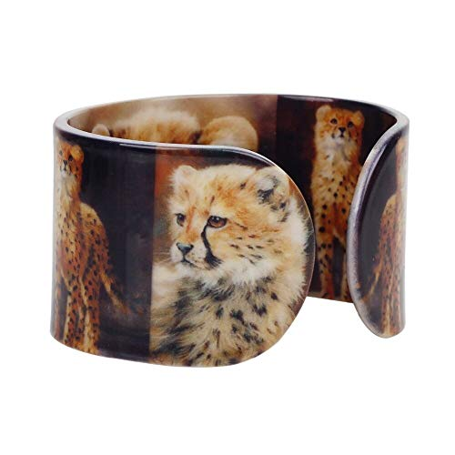 Kunststoff Süße Kleine Leopard Panther Armreifen Armbänder Mode Wild Animal Schmuck Für Frauen Mädchen Damen Teens