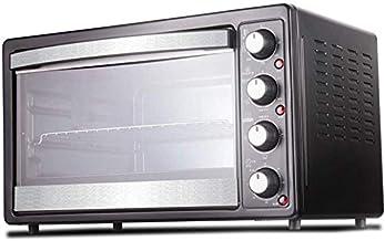 GJJSZ Four à Vapeur de comptoir Smart Home,360 °,Grille pour fourches rotatives,Grille pour grillades et poignée,35l,Noir