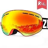 ZIONOR Lagopus X Mini Kids Snowmobile Snowboard Skate Ski Goggles with 100% UV...