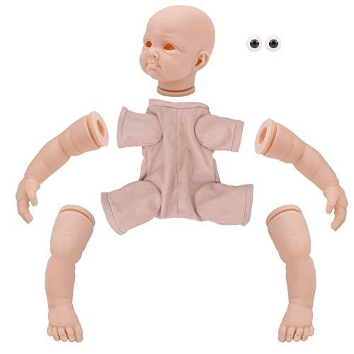 Kit de muñecas Reborn de 22 pulgadas, vinilo de silicona DIY, sin pintar, hecho a mano, realista, muñeca renacida, simulación de tacto real, juguete para niños pequeños, muñecas recién nacidas