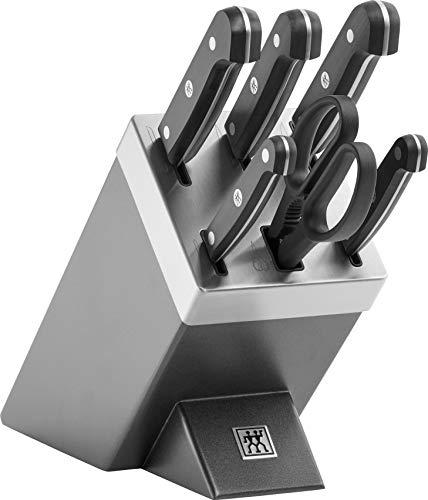 Zwilling 36133-410-0 Gourmet Selbstschärfender Messerblock 7 teilig, grau