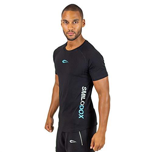 Herren T-Shirt Slim Fit 1.0, Größe:M, Farbe:Schwarz