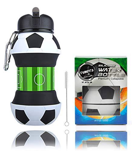 AToZ UK - Botella Agua fútbol niños - Botella Silicona