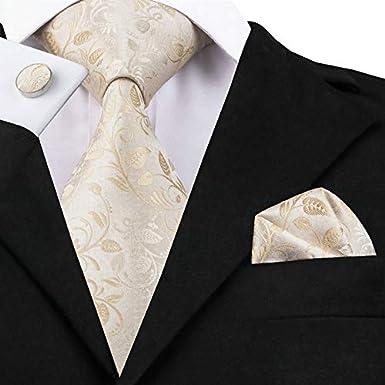 Juego de gemelos cuadrados de seda y bolsillo para hombre Barry.Wang