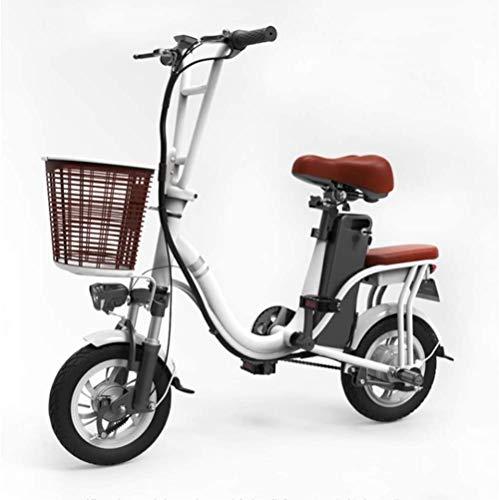Scooter eléctrico plegable Adulto, Mujeres'S 48v bicicleta eléctrica de la bicicleta con...