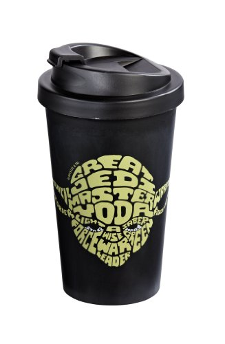 Star Wars 12275 Coffee to Go Becher Kunststoff doppelwandig Yoda, ca. 400 ml