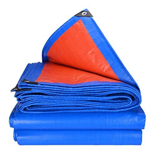GJQBT-ICE Blue Knife Scraping Cloth Tarpaulin Rainproof Sunscreen Thickening Tarpaulin Waterproof Cloth Awning Cloth Sunshade Cloth Canvas Canvas (Size : 57m)